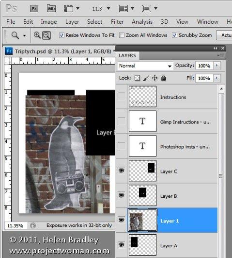 Как сделать фотоколлаж из нескольких фотографий в Photoshop - №4