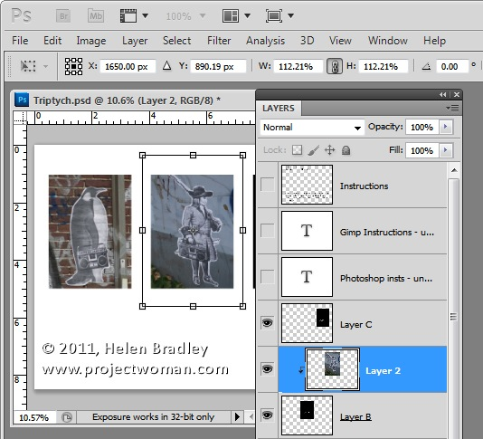 Как сделать фотоколлаж из нескольких фотографий в Photoshop - №6
