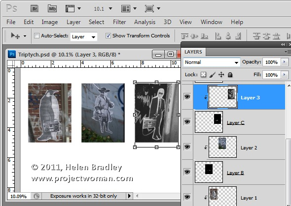 Как сделать фотоколлаж из нескольких фотографий в Photoshop - №7