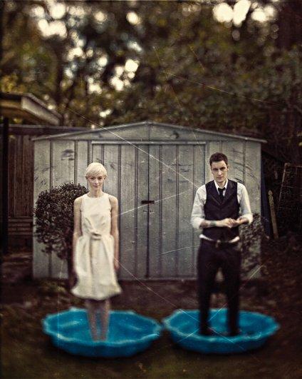 """""""Эта пара хотела что-то не типичное """"свадебное"""", потому я предложил им встать в два мини-бассейна"""""""