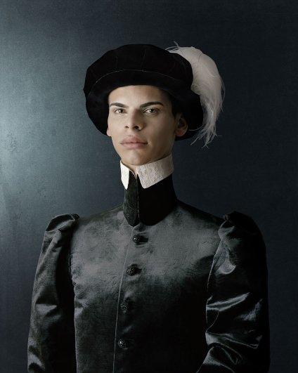 """""""1503"""" Портрет молодого человека с шляпе с перьями"""