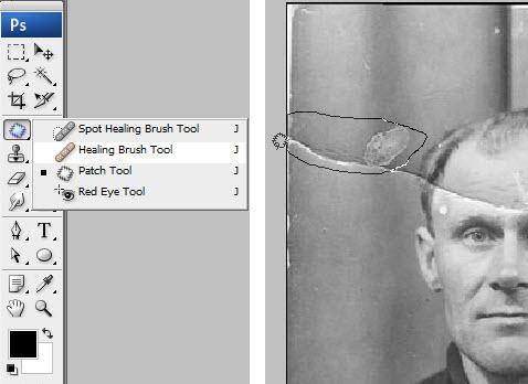 Реставрация старой фотографии в Photoshop - №3