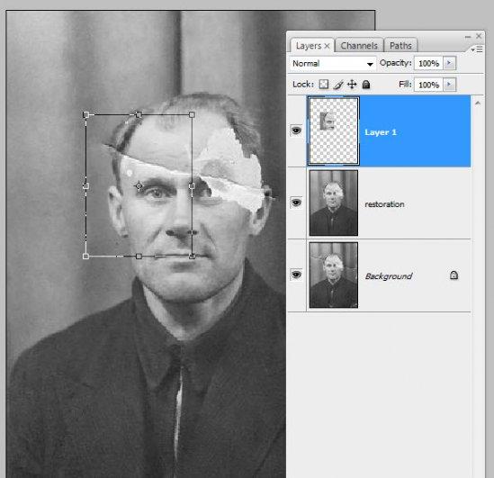 Реставрация старой фотографии в Photoshop - №7