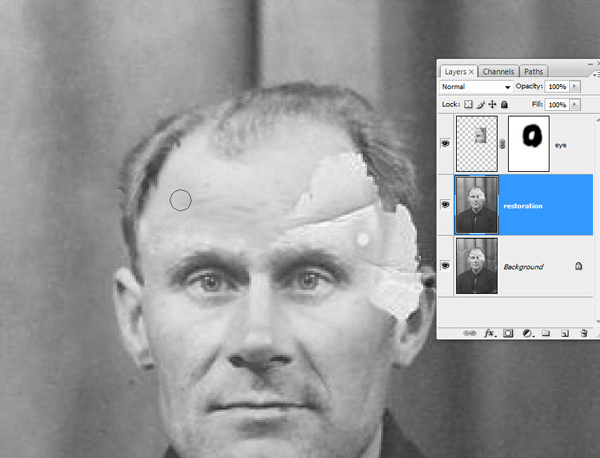 Реставрация старой фотографии в Photoshop - №12