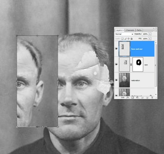 Реставрация старой фотографии в Photoshop - №13