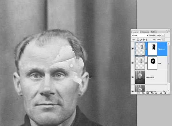 Реставрация старой фотографии в Photoshop - №14