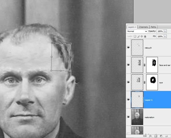 Реставрация старой фотографии в Photoshop - №15