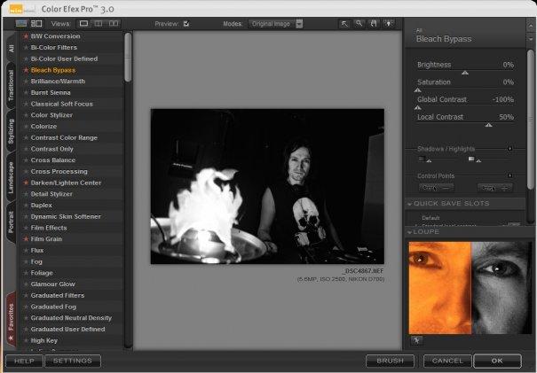 """фото с концертов"" - Интерфейс Color Efex Pro 3.0, Bleach Bypass."