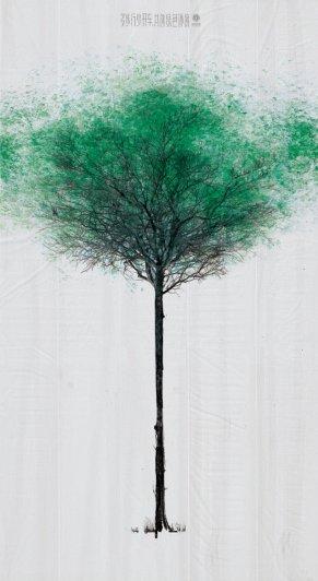 """Китайские зеленые пешеходные """"деревья"""" - №1"""