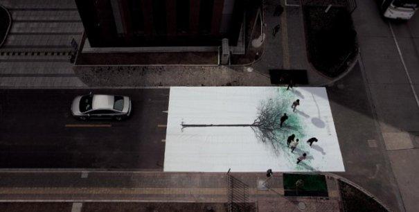 """Китайские зеленые пешеходные """"деревья"""" - №3"""