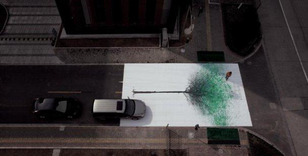 """Китайские зеленые пешеходные """"деревья"""" - №4"""