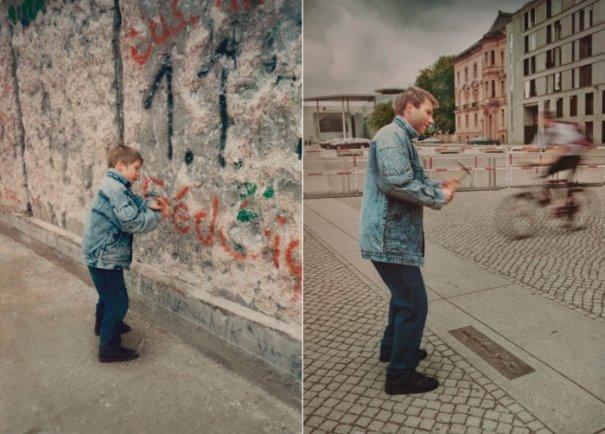 Кристоф 1990 и 2011 Берлинская стена