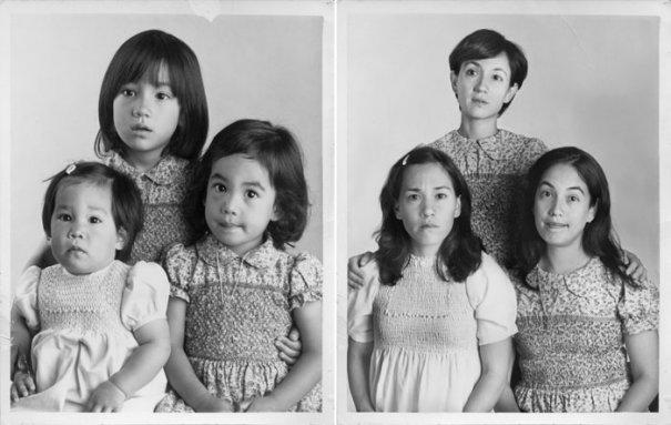 Сестры Морита 1979 и 2010 Буэнос-Айрес