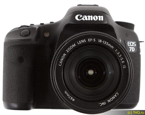 Обзор Canon 7D - Canon 7D со штатным объективом