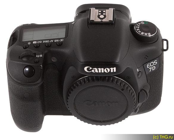 Обзор Canon 7D - Canon 7D с заглушкой на байонете