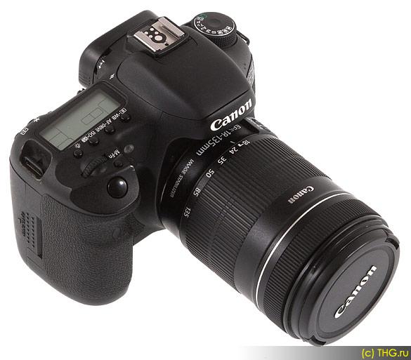 Обзор Canon 7D - Canon 7D со штатным объективом 18-135. Относительно компактный и лёгкий вариант для фотолюбителей.