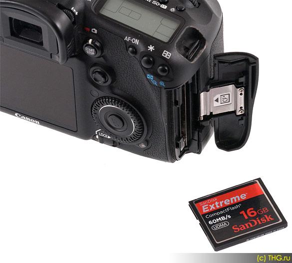 Обзор Canon 7D - С моделью Canon 7D лучше использовать быстрые карты памяти, чтобы не было проблем с буфером при серийной съёмке, рывков при записи видео и т.д.