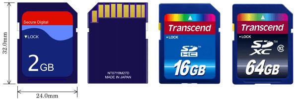 SD – карты памяти для зеркальных фотоаппаратов