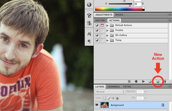 создание экшена для Фотошопа, шаг 1