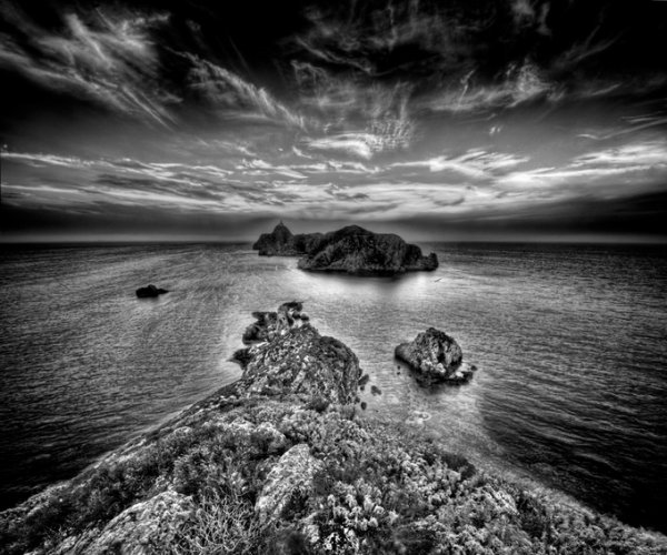 черно-белые пейзажи природы 15