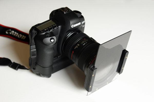 нейтральный ND фильтр установлен на камере
