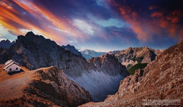 живописные пейзажи природы на закате