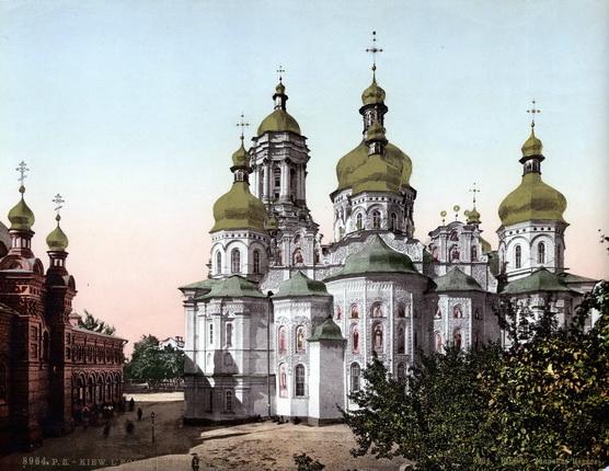 Неизвестный автор. Киев. Лаврская церковь. 1900 – 1910. Фотохром