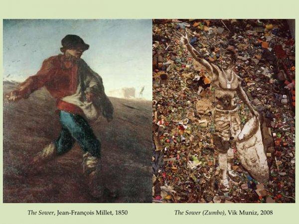 The Sower, Jean-François Millet, 1850 The Sower (Zumbo), Vik Muniz, 2008