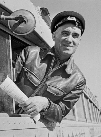 Водитель рейсового автобуса. 1963 год.