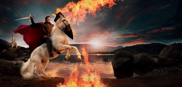 фотографии Энни Лейбовиц – Дэвид Бэкхем в роли принца Филиппа