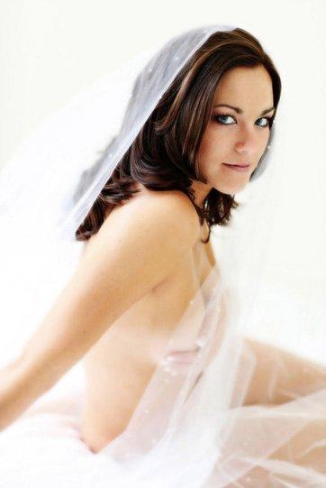 7. Намек, как бы вы выглядели в день своей свадьбы утром.