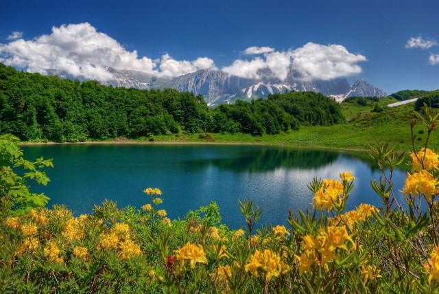фото гор 12 – гора Фишт и озеро Хуко