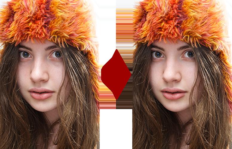 основы ретуши лица 4