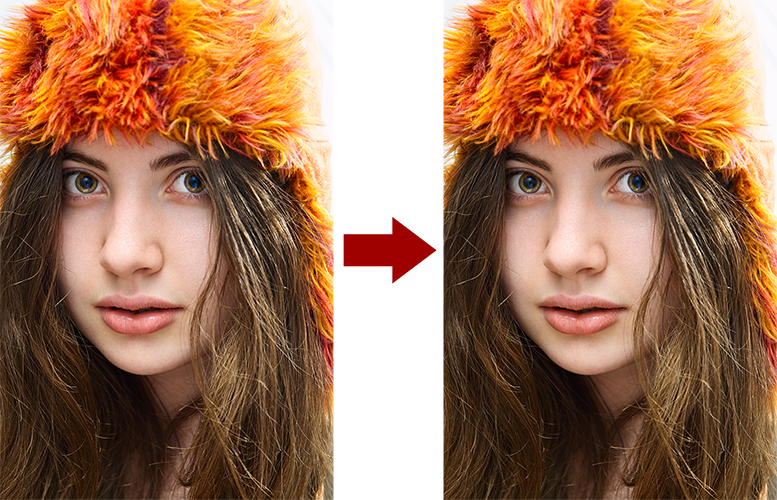 основы ретуши лица 8