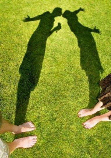 Необычные идеи для фотосессии  - тени в помощь.
