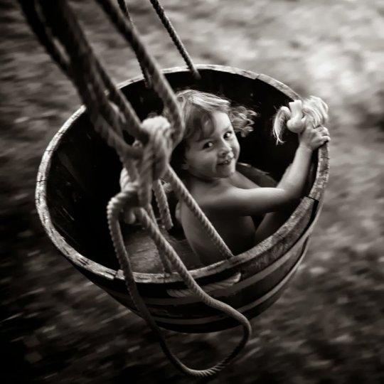 Семейные черно-белые фотографии Алена Лябуэля - №17