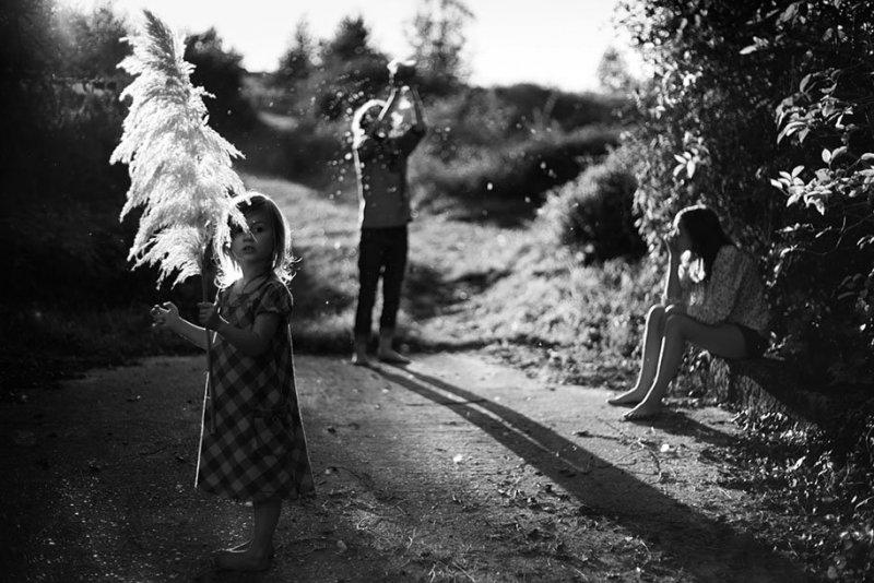 Семейные черно-белые фотографии Алена Лябуэля - №11