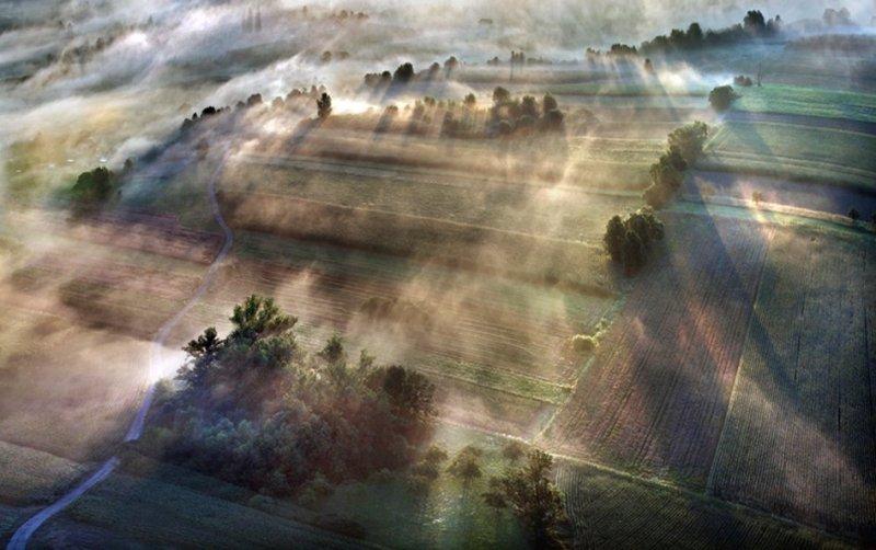 Сказочные фотопейзажи аэрофотографа Матяжа Катера - №15