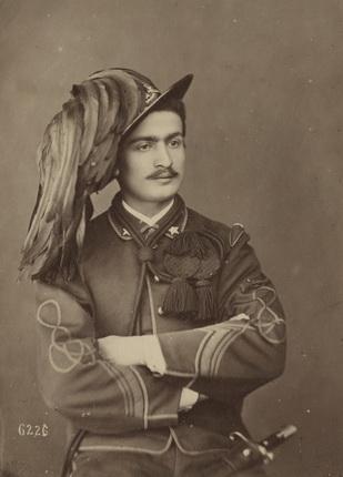 Джорджио Зоммер. Портрет бельсарьера. Неаполь. 1860-е