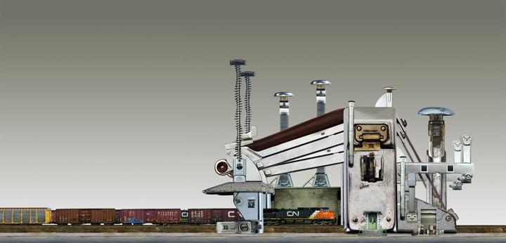 Архитектурные фантазии из домашних предметов - №6