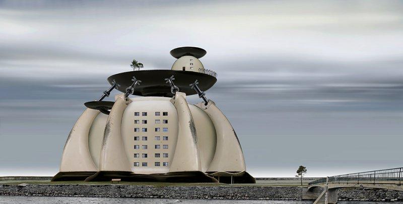 Архитектурные фантазии из домашних предметов - №14
