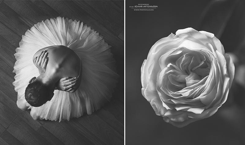 Цветы и балерина - №1