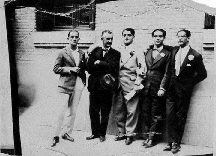 Сальвадор Дали, Морено Вилья, Луис Бунюэль, Федерико Гарсия Лорка и Хосе Антонио Рубио Сакристан