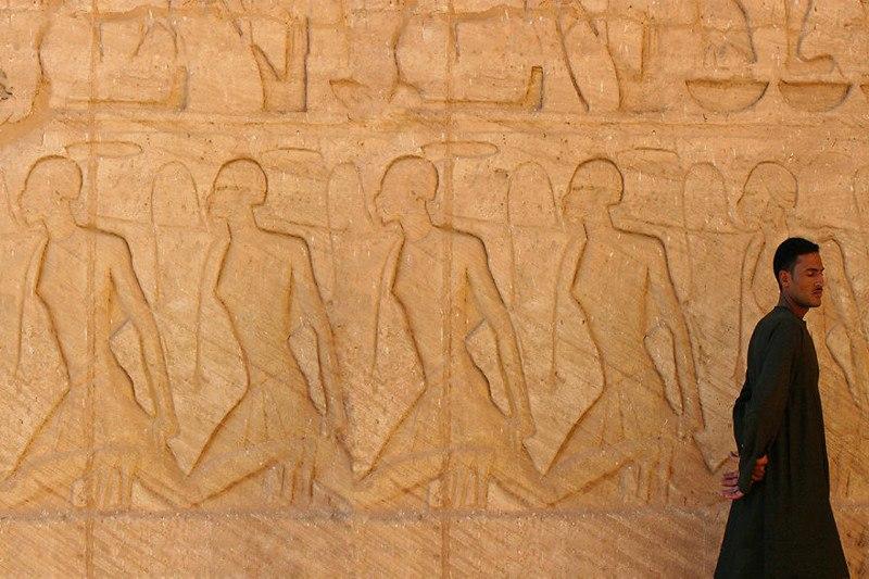 Фрески в Великом Храме Абу Симбела, Египет