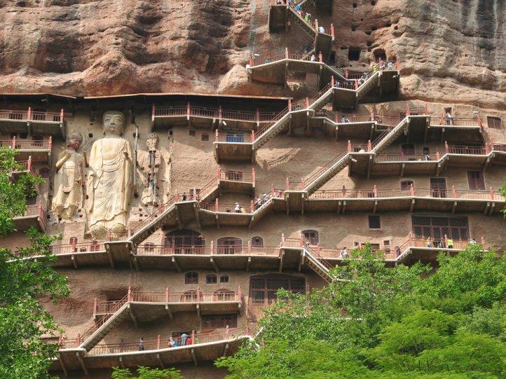Красивые пейзажи китайской провинции Ганьсу - №5