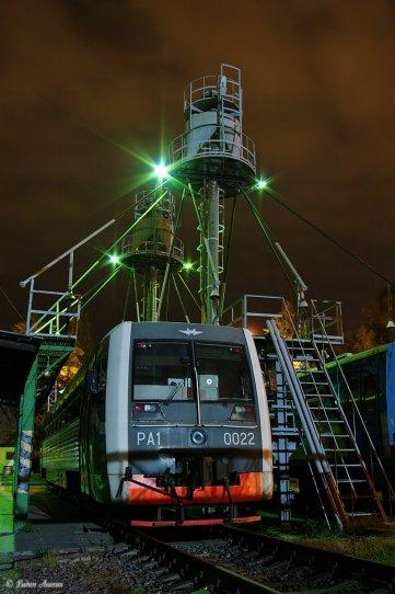 Night in depot