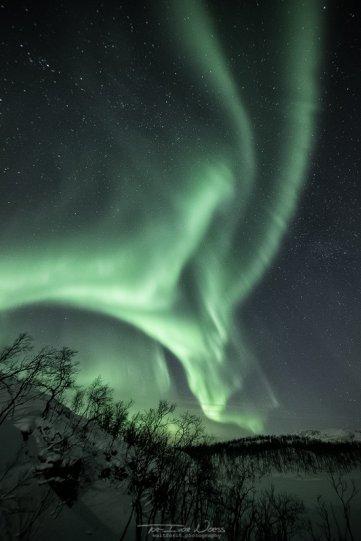 Полярное сияние над Норвегией - №13