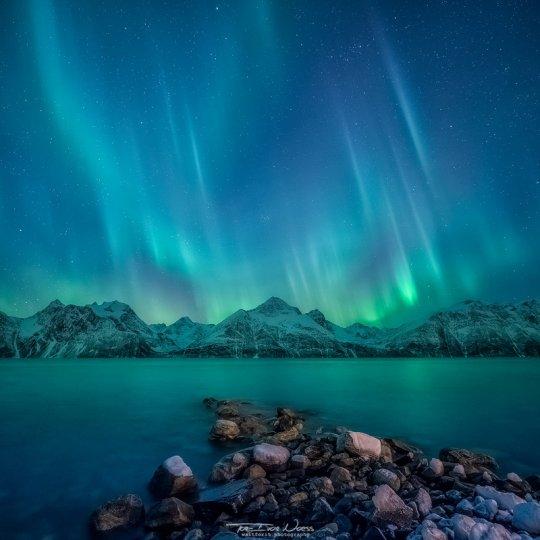 Полярное сияние над Норвегией - №8