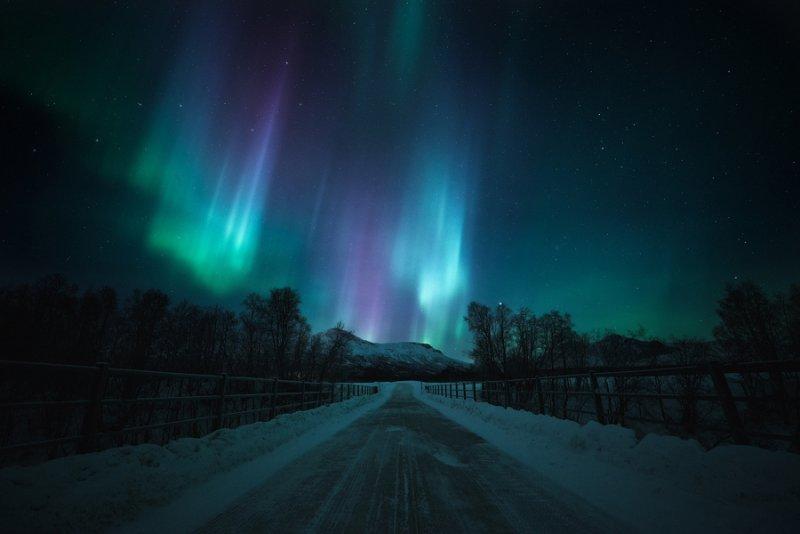 Полярное сияние над Норвегией - №7