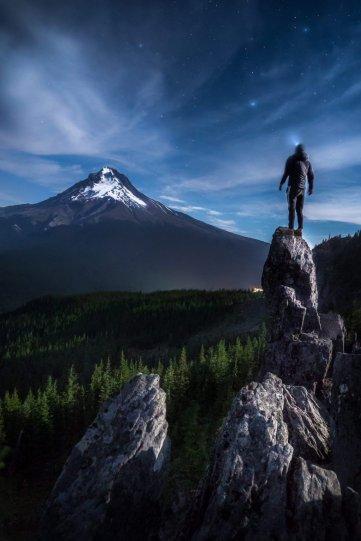 Гора Худ ночью